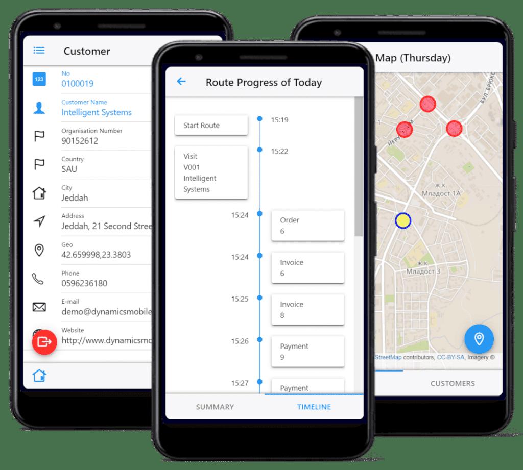 Dynamics Mobile apps screenshots