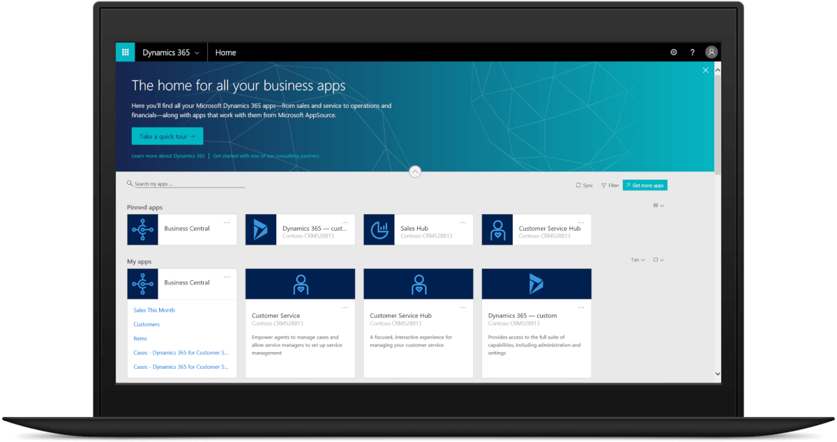 Dynamics 365 Business Central screenshot home
